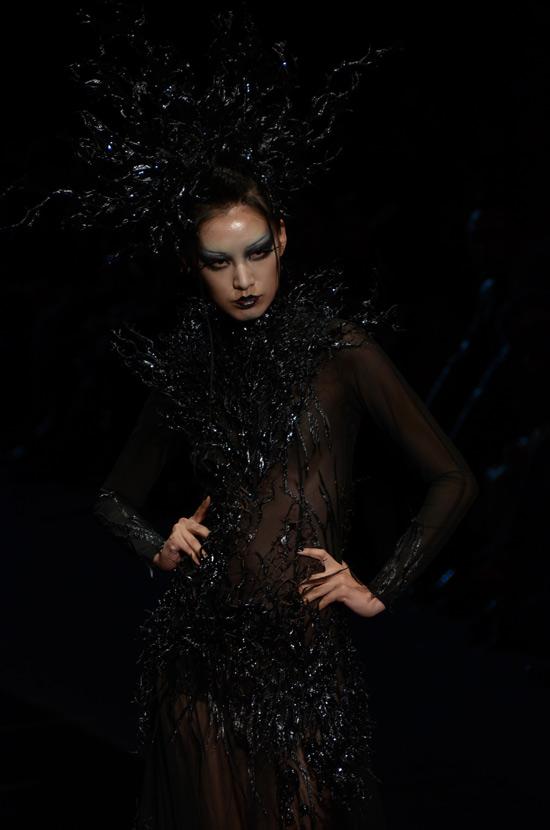 模特展示彩妆造型作品