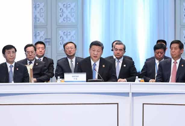 习近平出席上合组织会议并发表重要讲话