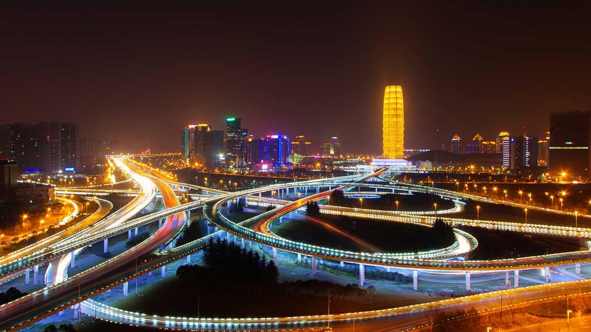 郑州:郑东新区夜景 摄影师:陶醉